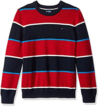 6a519b34413c Tommy Hilfiger Boys  Adaptive Sweater with Adjustable Shoulder Closure