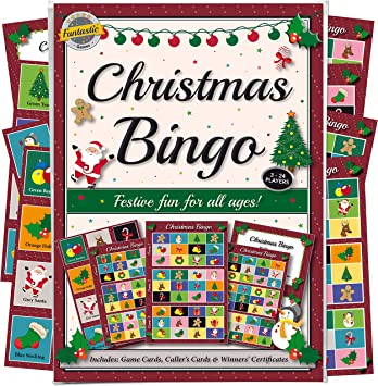 Christmas Party Bingo Game Fun For Guests Of All Ages More Entertaining Than A Xmas Quiz