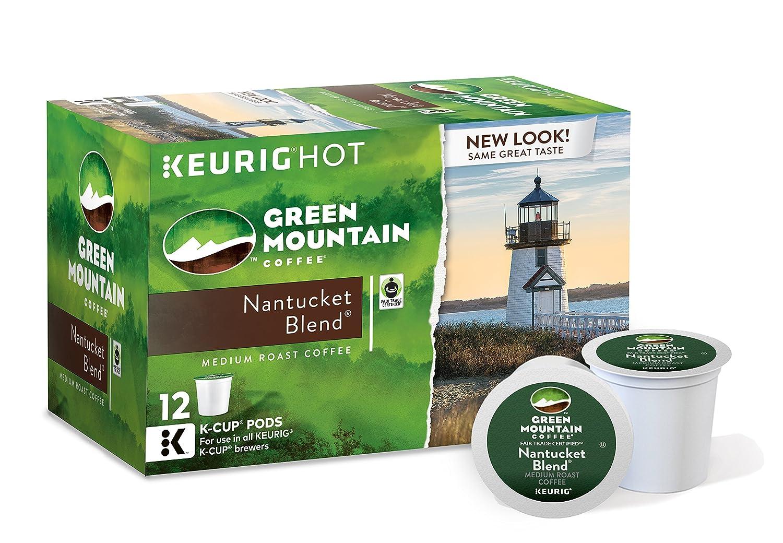 Green Mountain Coffee Nantucket Blend Keurig Single-Serve K-Cup Pods, Medium Roast Coffee, 12 Count