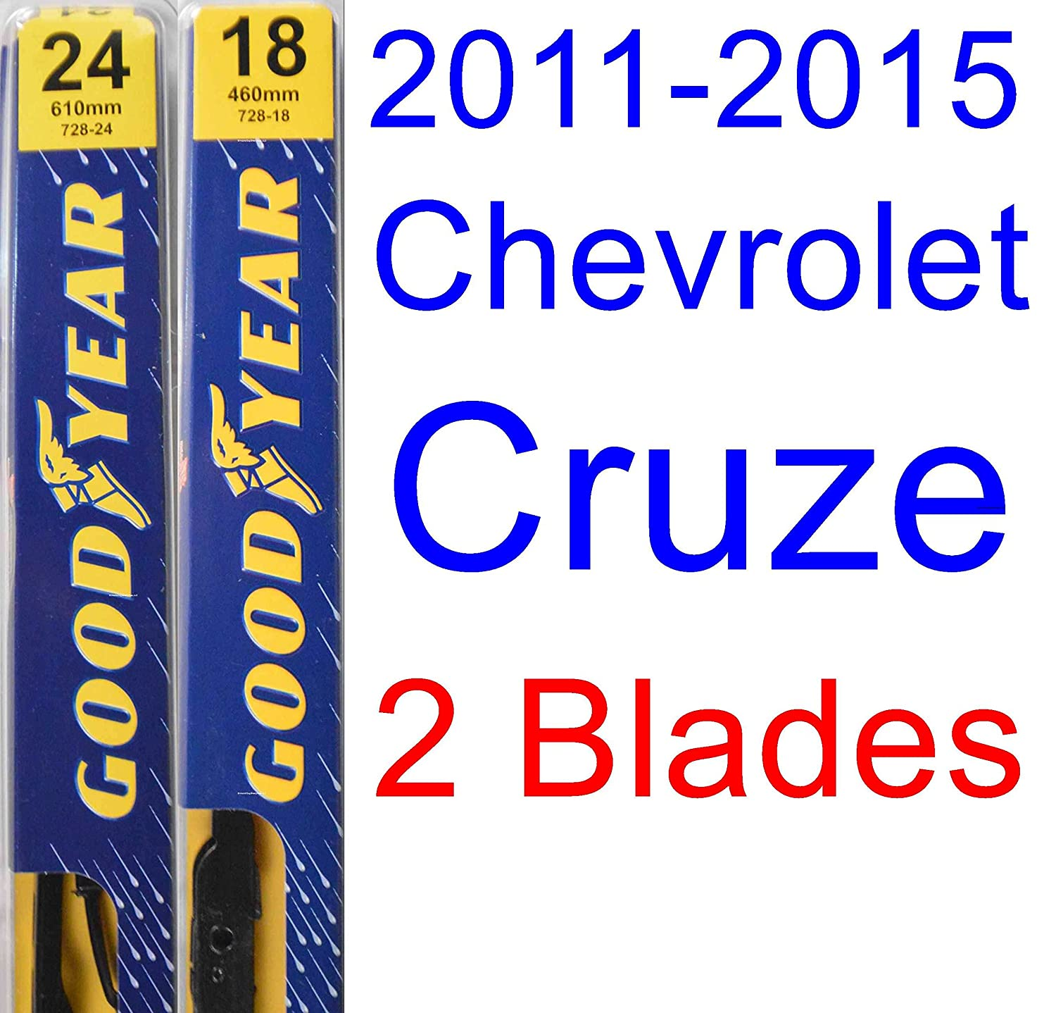 2011 2015 chevrolet cruze replacement wiper blade set kit. Black Bedroom Furniture Sets. Home Design Ideas