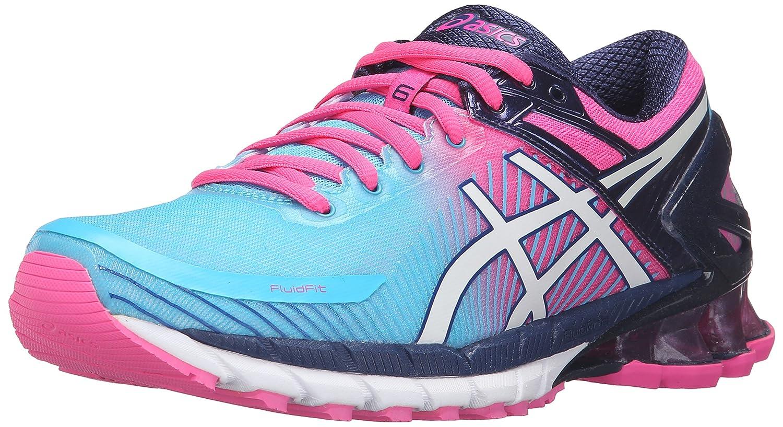 newest 1ae0b 3149d ASICS Women s Gel-Kinsei 6 Running Shoe, Aquarium White Hot Pink, 6 M US   Amazon.co.uk  Shoes   Bags