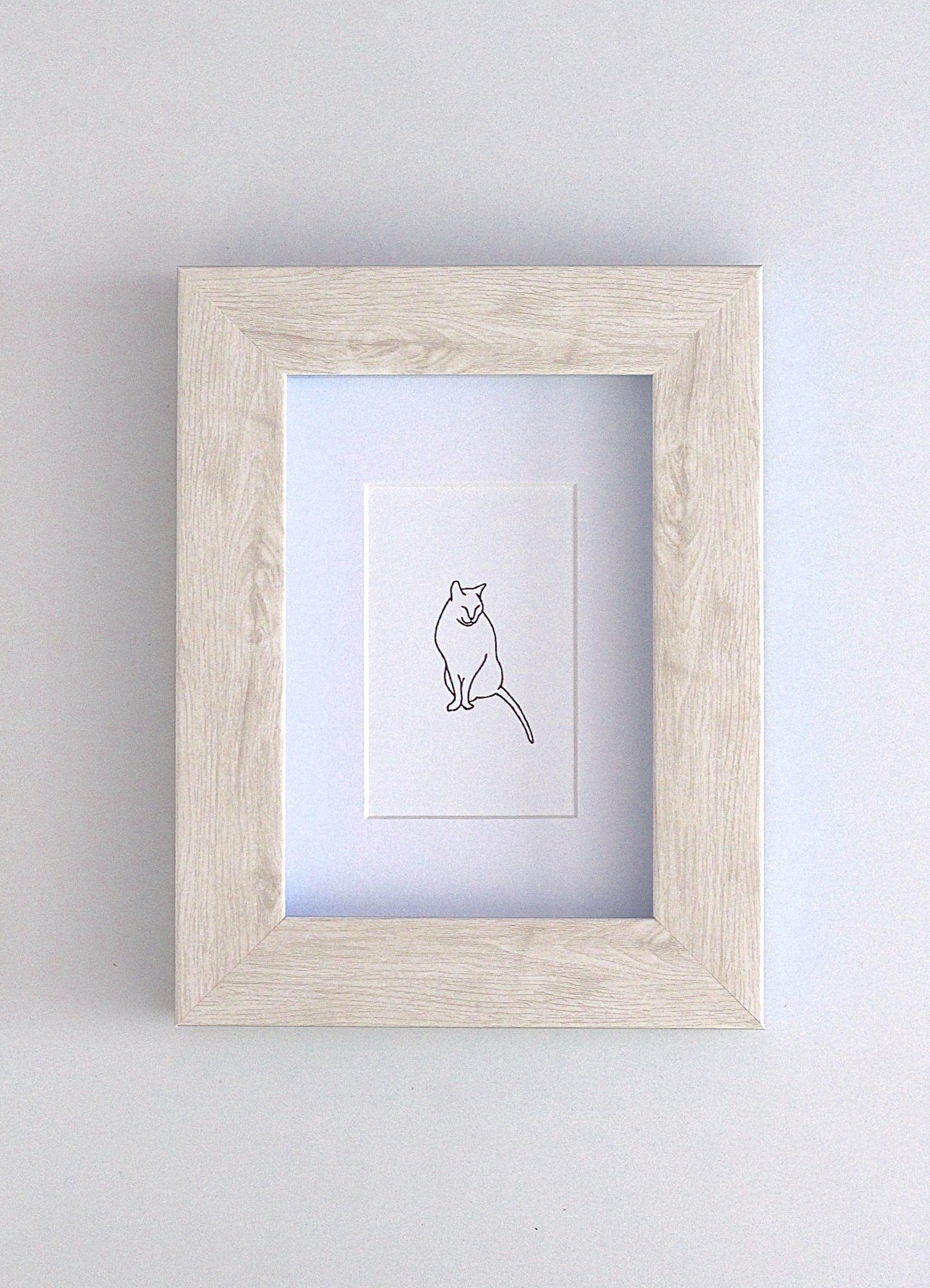 Framed Wall Art Print Gregory The Cat