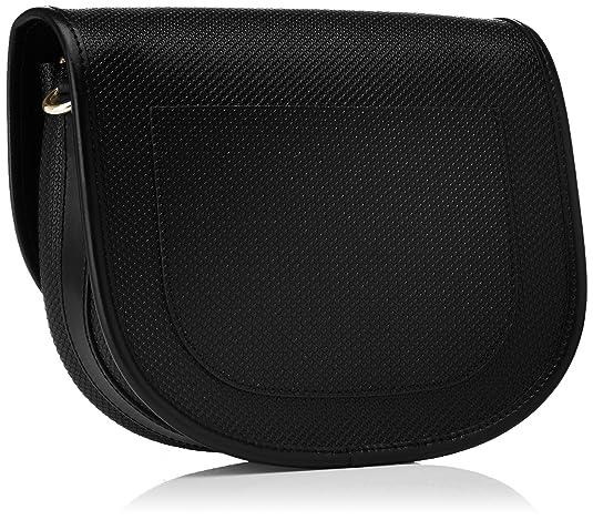05bcd56362bb4a Lacoste Women NF2117CE Cross-Body Bag Black Black (Black 000)   Amazon.co.uk  Shoes   Bags