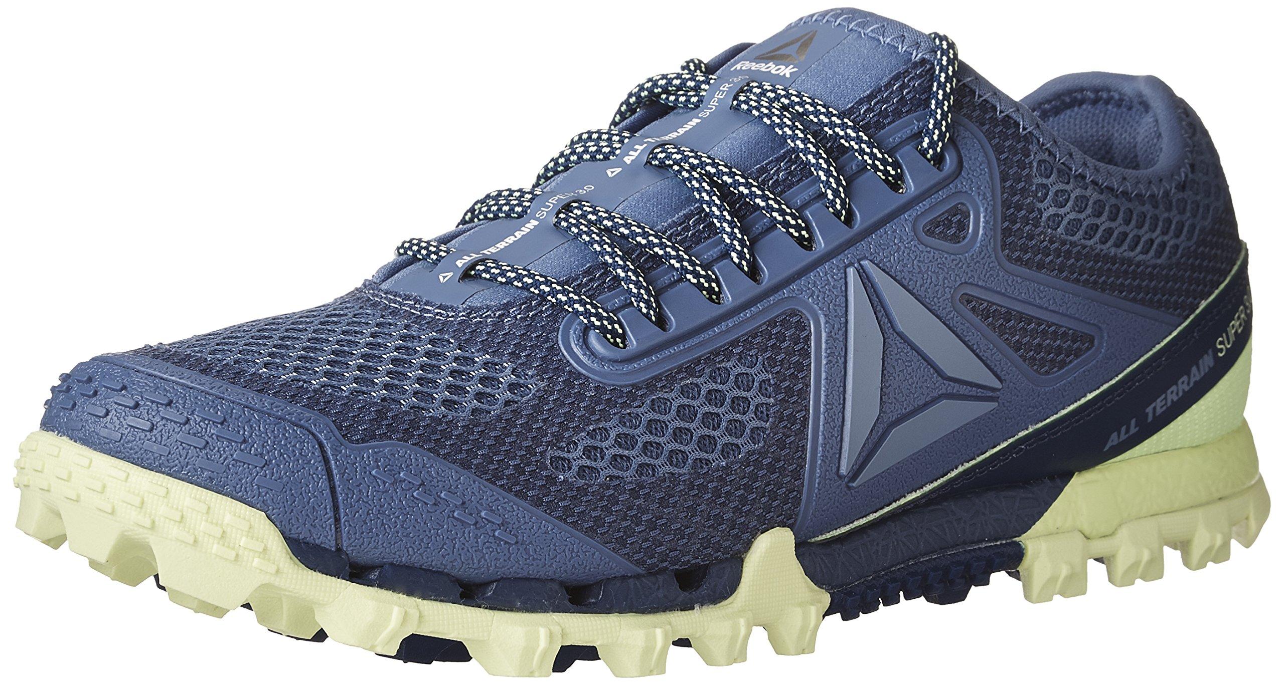 Reebok Women's All Terrain Super 3.0 Track Shoe, Lilac Shadow/Deep Cobalt/Coll. Navy/Electric Flash, 7 M US