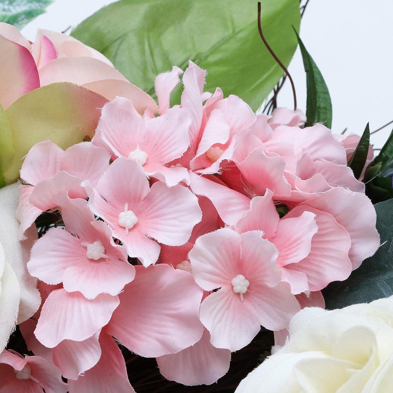 T/üren Hochzeiten MEHRWEGVERPACKUNG Parties Valery Madelyn K/ünstliche Lavendel Blumenkranz mit Schmetterling gro/ß /Ø 45cm T/ürkranz Wandkranz Osterdeko Fr/ühlingsdeko Kunstblumendeko f/ür Zuhause