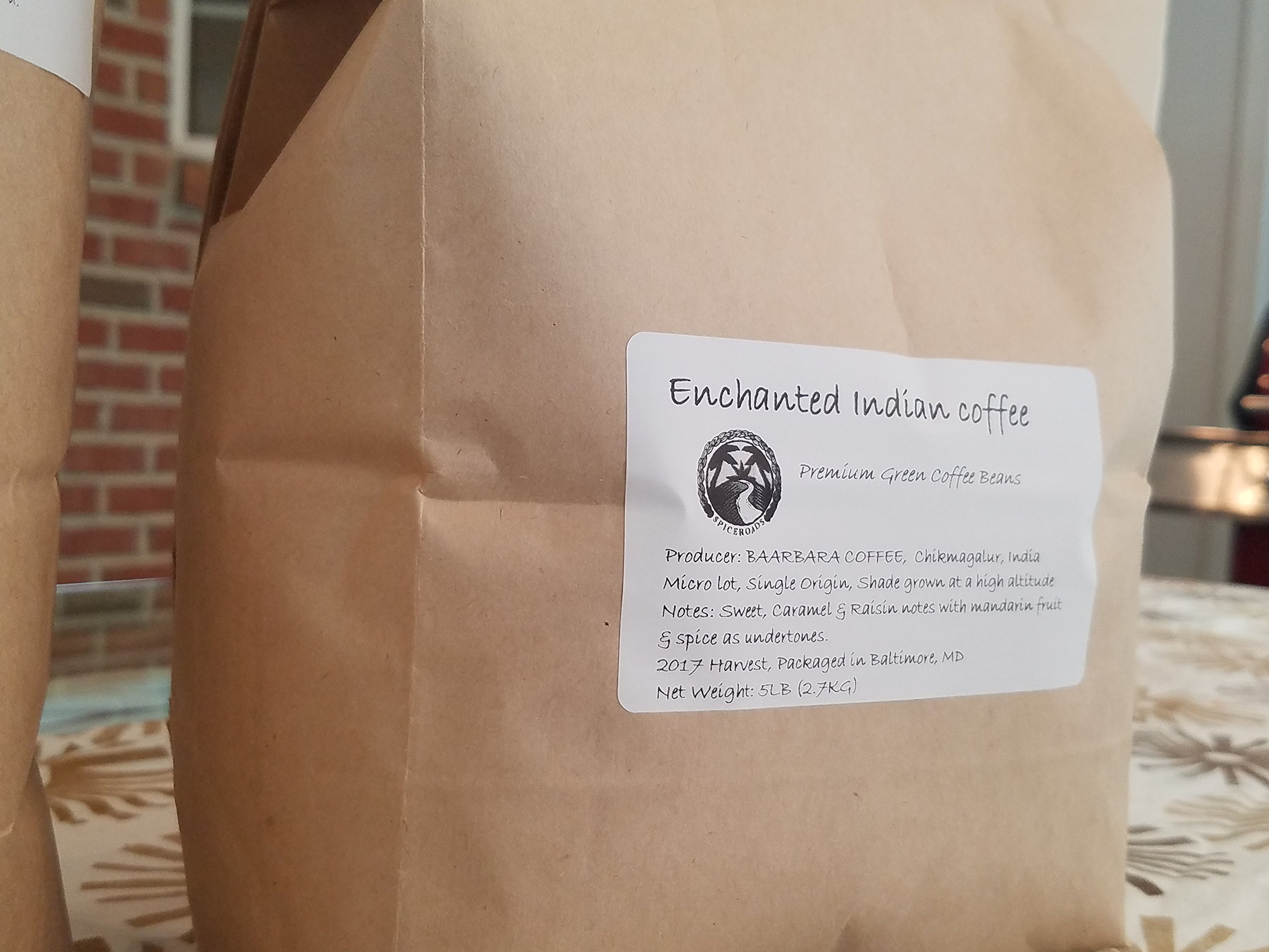 Unroasted Green Coffee Beans, 5lbs