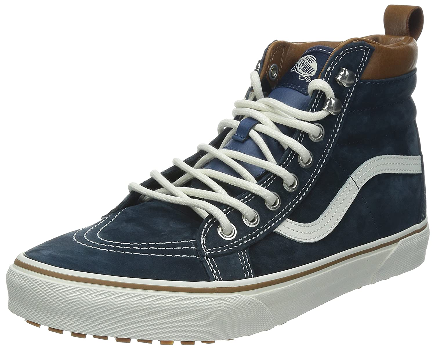 Vans Sk8-Hi Unisex Casual High-Top Skate Shoes, Comfortable and Durable in Signature Waffle Rubber Sole B00HJBUJ18 13.5 Women / 12 Men M US|(Mte) Dress Blues
