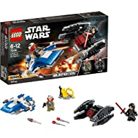 LEGO Star Wars: The Last Jedi A-Wing vs. TIE Silencer Microfighters 75196 Playset Toy