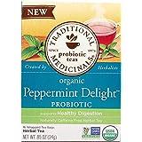 Traditional Medicinals, Tea Herbal Peppermint Delight Probiotic Organic, 16 Count