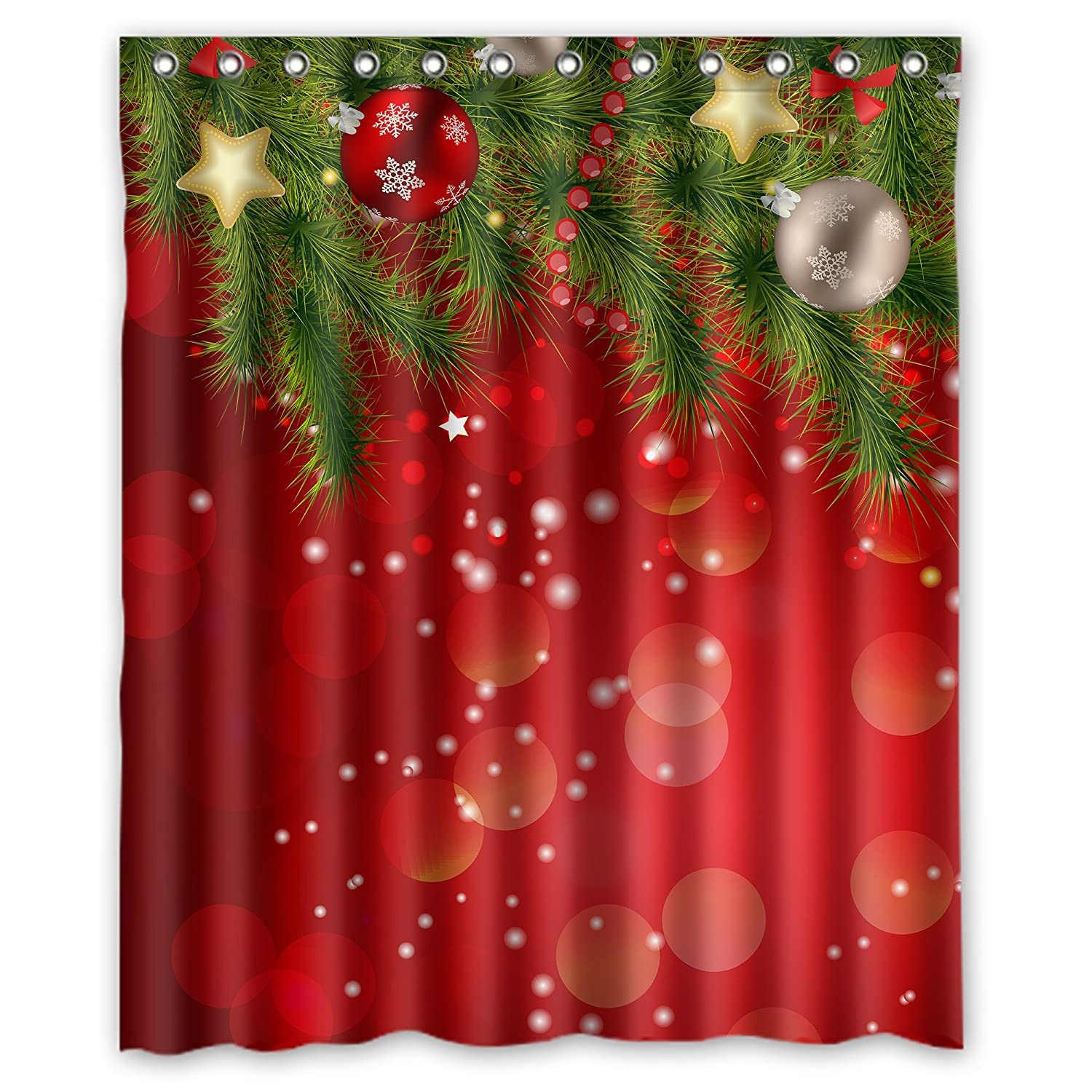 Christmas Shower Curtains Amazon.Fmshpon Merry Christmas Shower Curtain