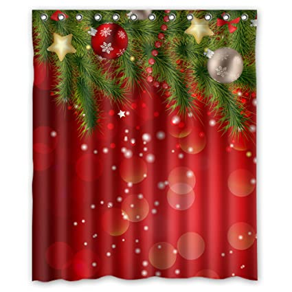 Image Unavailable Not Available For Color FMSHPON Merry Christmas Shower Curtain