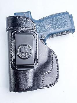 outbags lob2s-cw45 negro piel auténtica iwb Conceal Carry ...