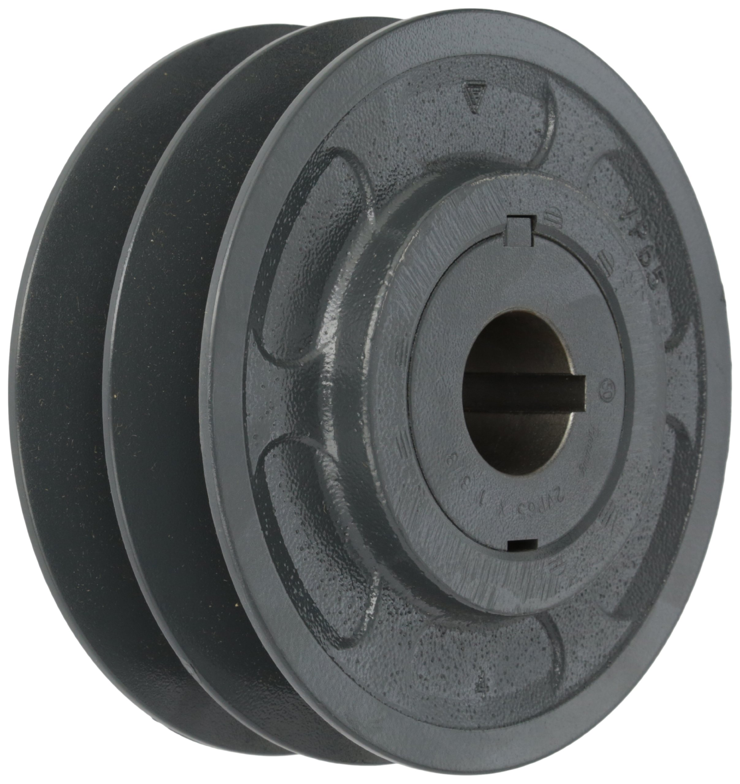 Browning 2VP65X 1 3/8 Variable Pitch Sheave, 2 Groove, Finished Bore, Cast Iron Sheave, for 4L or A, 5L or B, 5V Section Belt