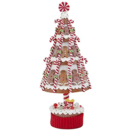 Image Unavailable - Amazon.com: Claydough Gingerbread Christmas Tree With Candy Canes