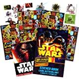 Classic Star Wars Tattoos and Stickers Party Favor Pack (50 Temporary Tattoos and 300 Stickers)