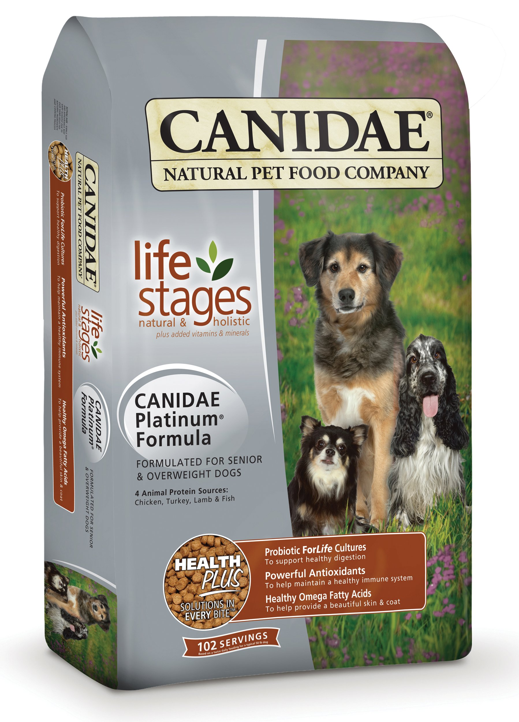 CANIDAE Life Stages Dry Dog Food for Puppies Adults & Seniors 5 lbs