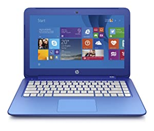 HP Stream K2L96UA#ABA 13.3-Inch Laptop (Blue)