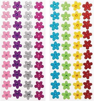 Baker Ross- Pegatinas de Flores de Espuma con Joyas (Pack de 80 ...