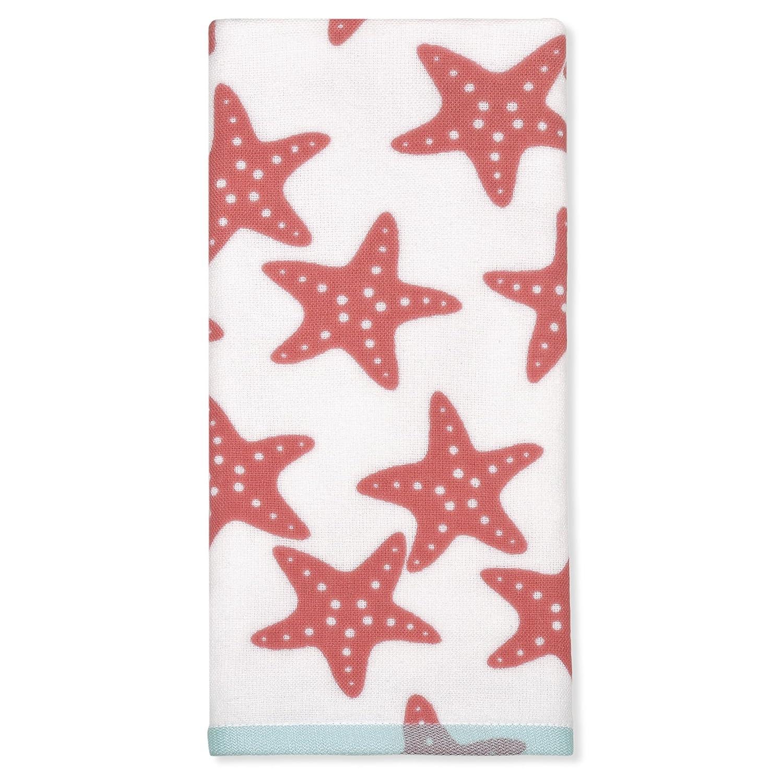 Peri Home Starfish Hand Towel, 100Percent Cotton, Coral, 15'x 26', Bordered 15x 26 CHF Industries 3T91420HCC