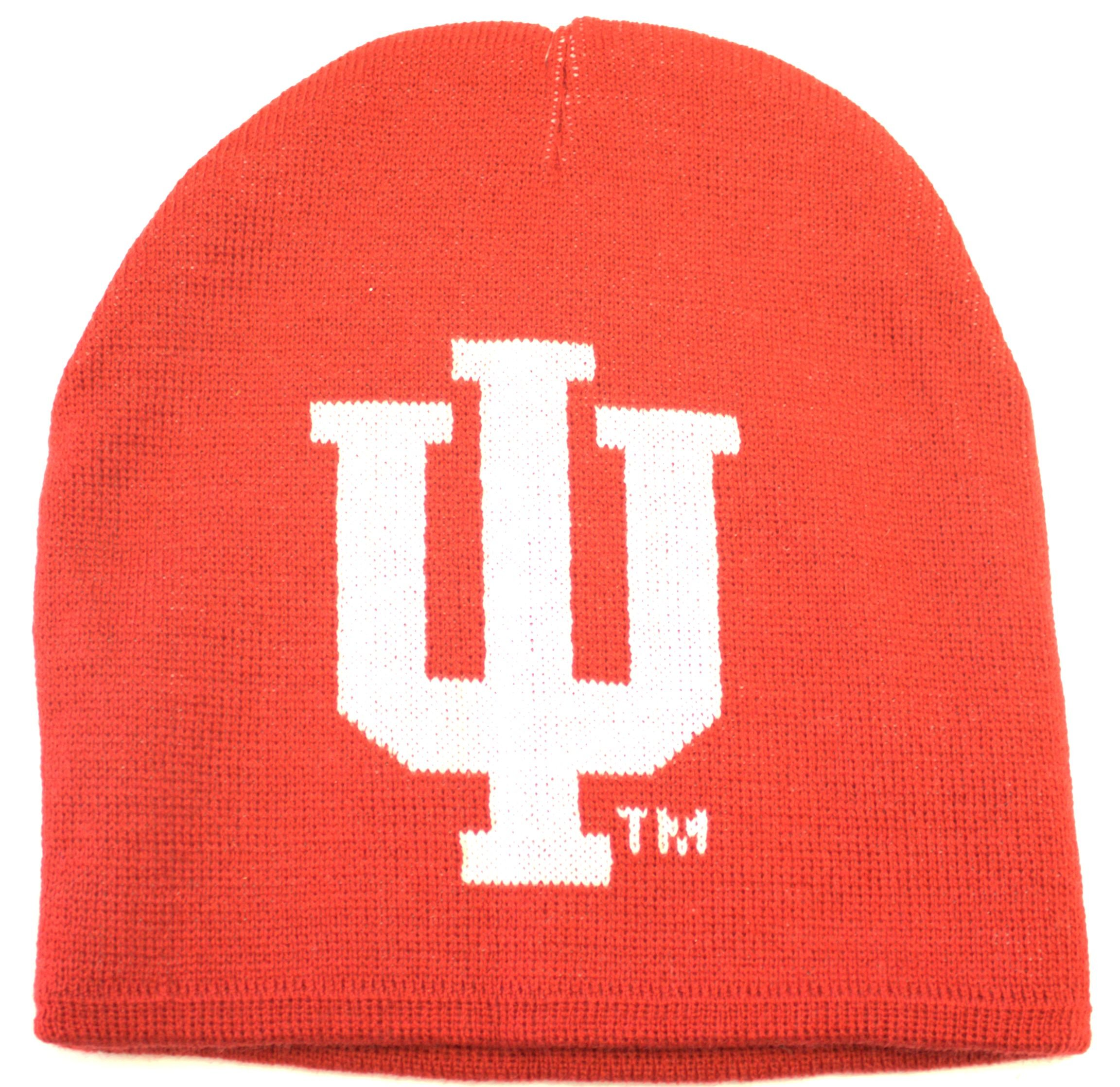 NCAA Indiana Hoosiers Jacquard Knit Hat, One Size, Red