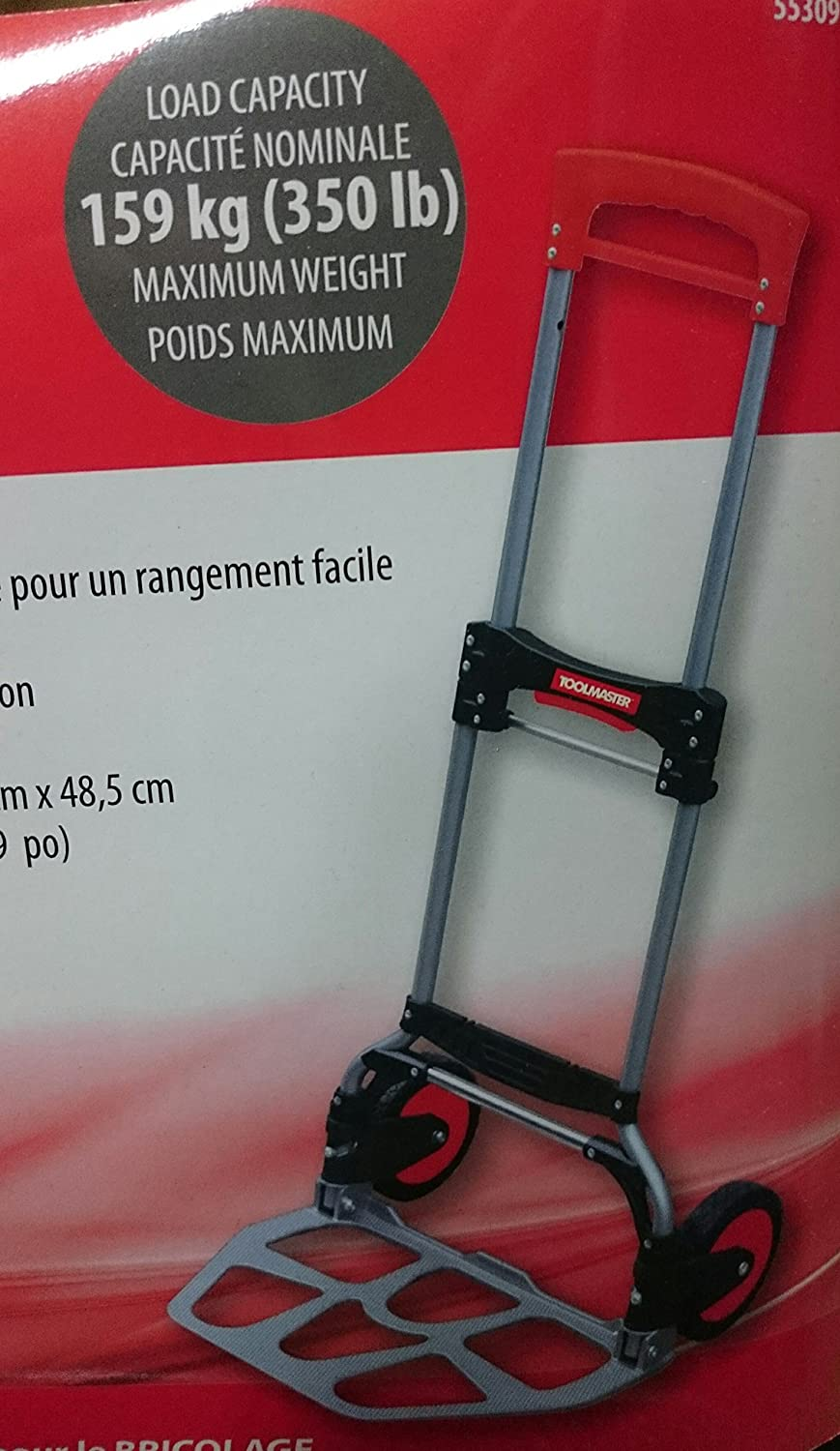 Peachy Toolmaster Aluminium Fold Away Hand Truck 159Kg 350Lb Onthecornerstone Fun Painted Chair Ideas Images Onthecornerstoneorg