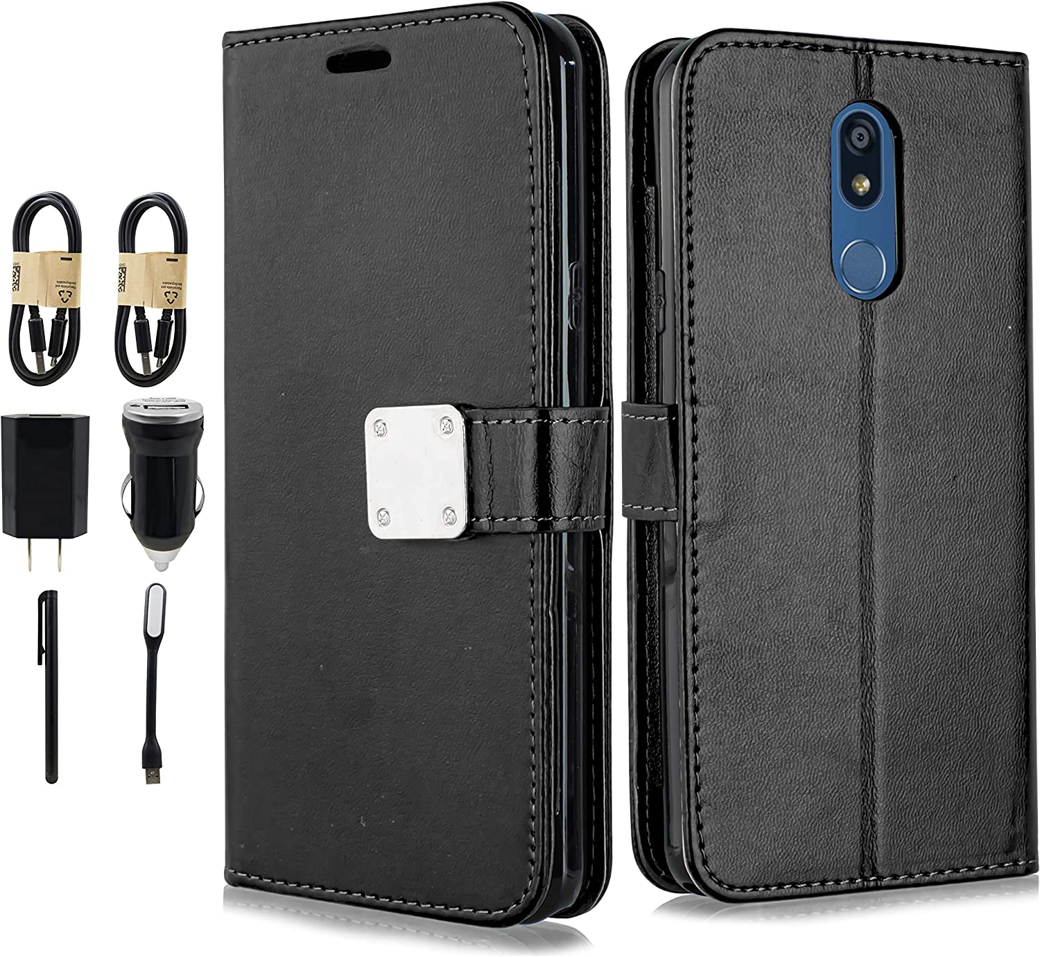 LG K40 Case Red The Grafu Shockproof Flip Folio PU Leather Wallet Cover for LG K40 Book Style Case with Card Holder and Magnetic Closure
