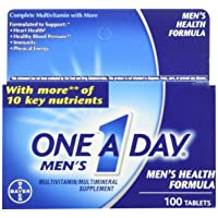 One A Day Mens 100ct Size One A Day Men'S Multivitamin Multimineral Supplement Tablets 100 Count (Packaging may vary)