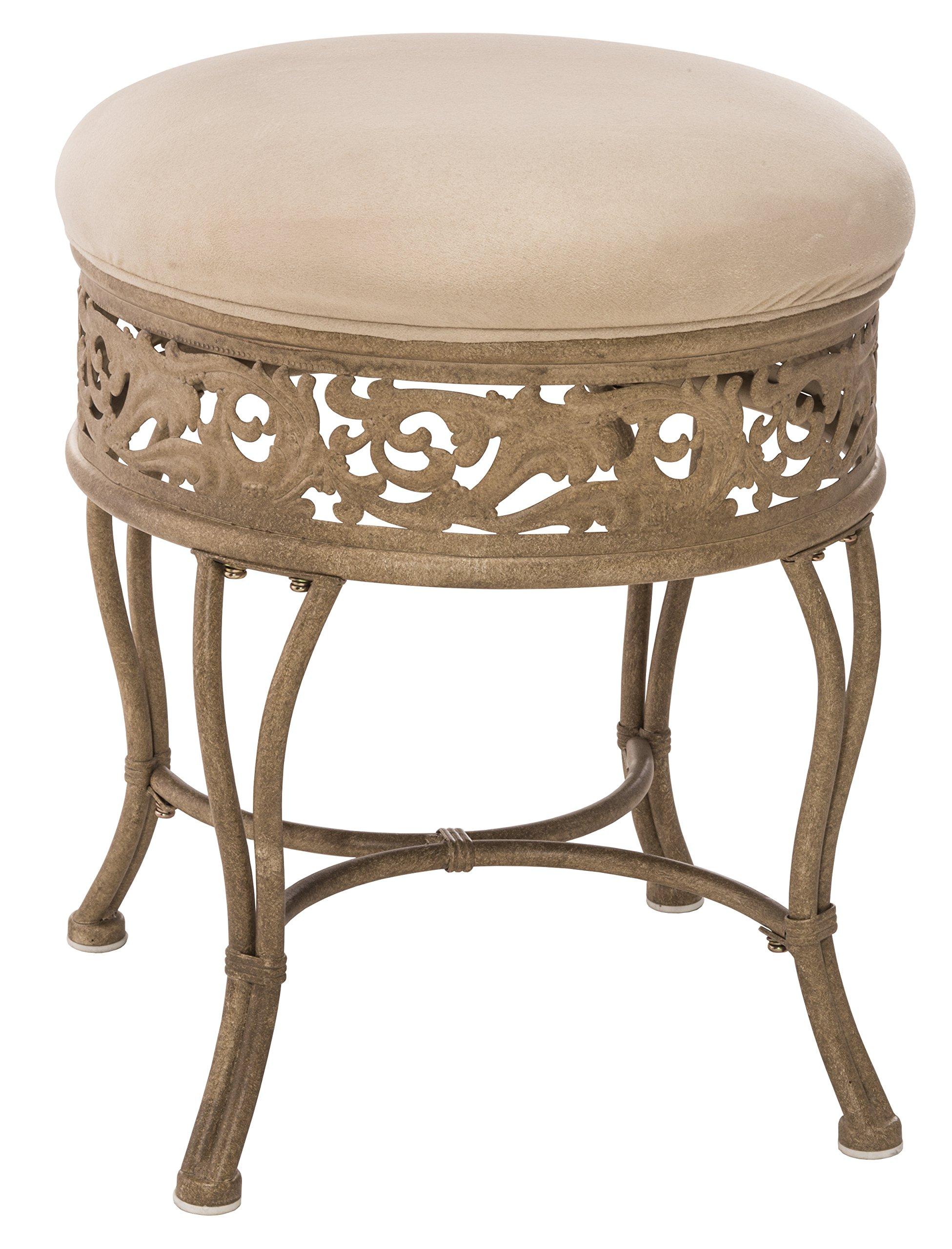 Hillsdale Villa III Vanity Stool, Antique Beige by Hillsdale Furniture