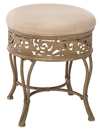 Marvelous Hillsdale Villa Iii Vanity Stool Antique Beige Caraccident5 Cool Chair Designs And Ideas Caraccident5Info