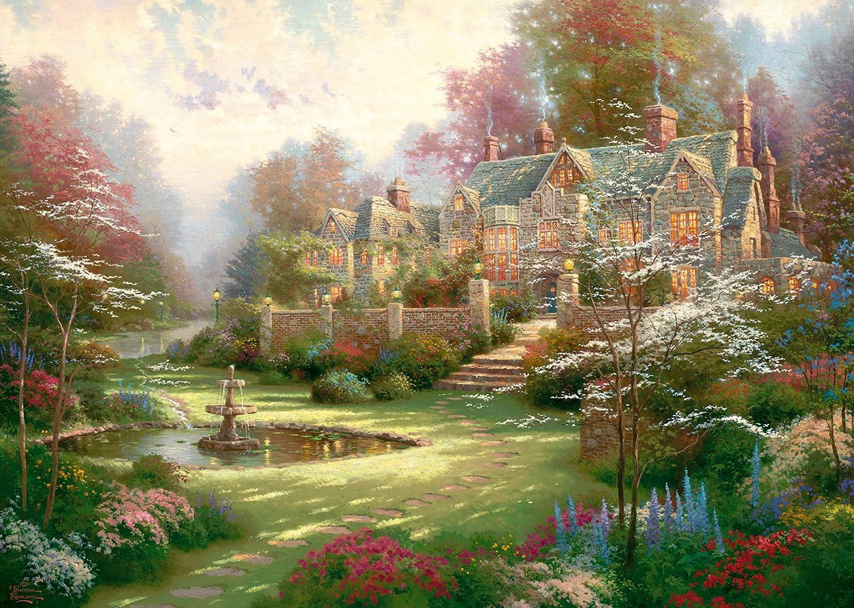 Puzzles Puzzle 2000 Teile Gardens Beyond Spring Gate Thomas Kinkade Painter of Light Puzzles & Geduldspiele
