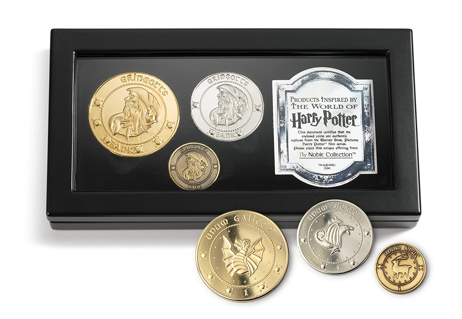 Harry Potter Book Worth Money : Harry potter gringotts bank coin collection with wooden