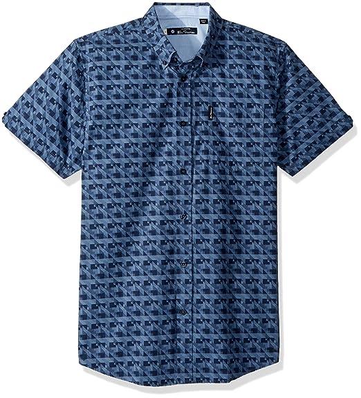 6c26b0354 Ben Sherman Men s Fractured Gingham Button Down Shirt