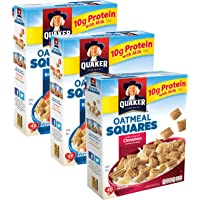 3-Pack Quaker Oatmeal Squares Breakfast Cereal Variety Pack
