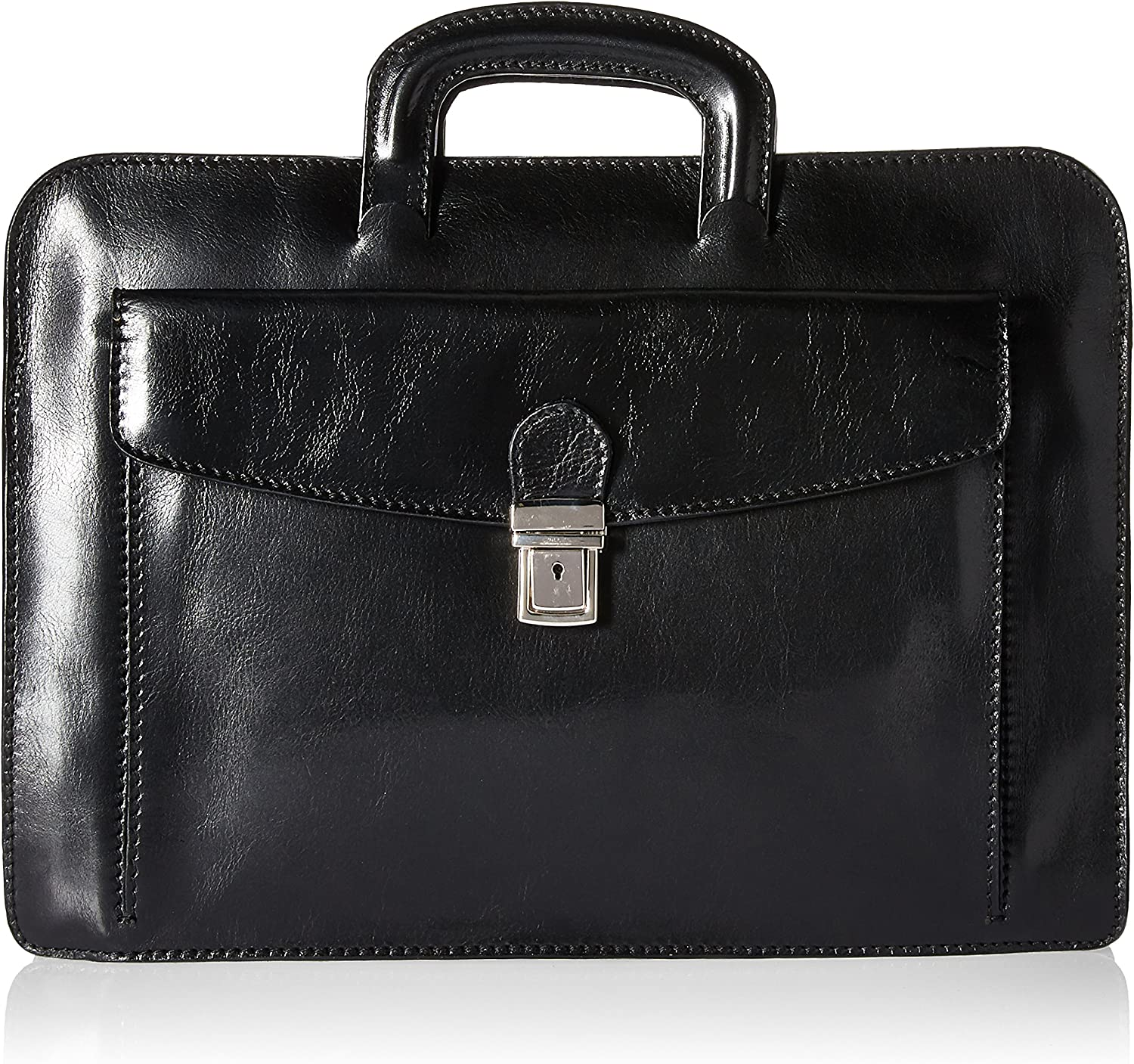 Image of Alberto Bellucci Milano Italian Leather Roman Portfolio Document Case Bag Cases & Sleeves