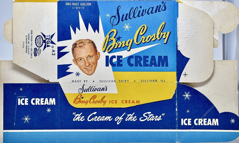 "1953 SULLIVAN/'S BING CROSBY ICE CREAM BOX Photo MAGNET 4x3/"" thin-flexible"