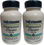 Life Extension Magnesium Citrate, 160 Mg, 100 Capsules (2 Pack)