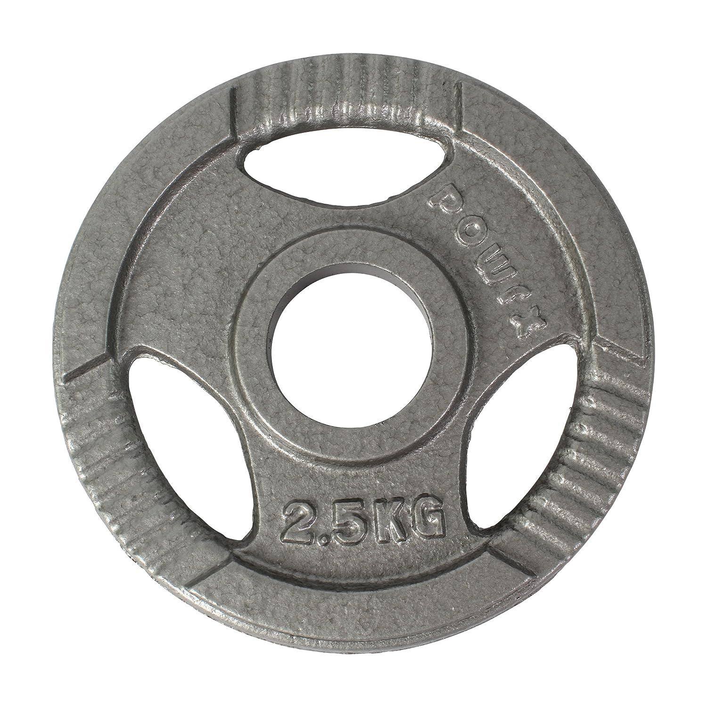 2er Set Ideal f/ür Kurzhanteln und Langhanteln mit Durchmesser 50 mm POWRX Olympia Gewicht Hantelscheiben 2,5-40 kg