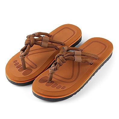 For Beach and Beyond Men Slide Flat Sandal Thong Flip Flop