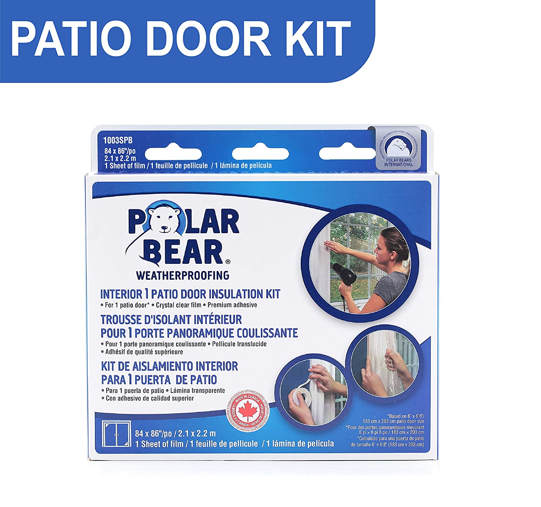 Elegant Polar Bear Weatherproofing Standard Patio Door Insulation Film Kit   84  Inch X 86 Inch