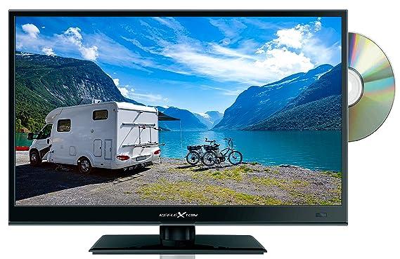 Reflexion LDD1671 39 cm (15,6 Zoll) LED-Fernseher mit DVD-Player, Triple-Tuner und 12 Volt Kfz-Adapter (HD Ready, HDMI, DVB-S
