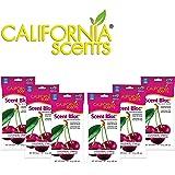 California Scents Power Bloc Car Air Freshener, Coronado Cherry Fresh & Bold Fragrance, 0.88 Oz (Pack of 6) - Packaging May Vary, 5.28 Ounces