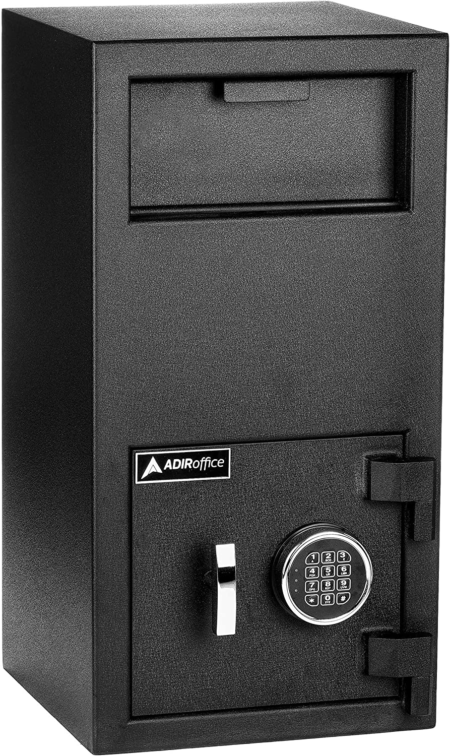 AdirOffice Keypad Lock Drop Box Safe - Industrial Strength Security Storage with Digital Lock - Safety for Home & Business Use (Large)