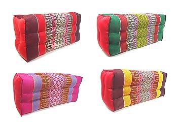 4 x Original Thai Cojín Kapok almohada 28 x 13 x 11 cm para ...
