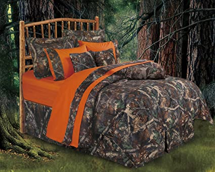 HIEnd Accents Realtree Oak Camo Comforter Set, Full