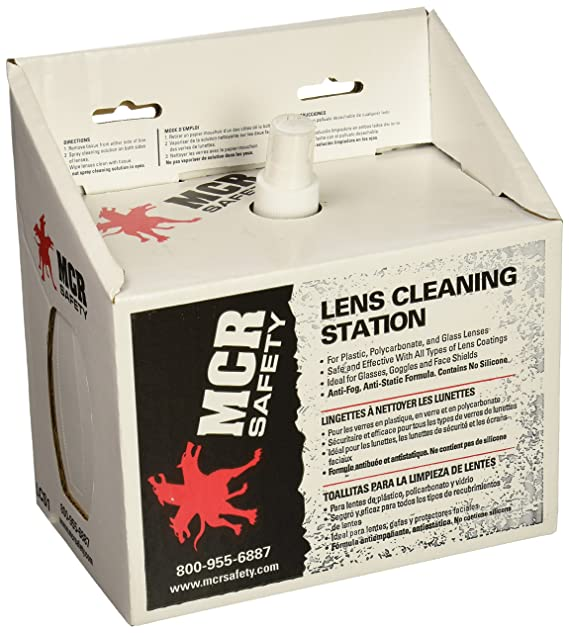 Amazon.com: MCR LCS1 Crews Disposable Lens Cleaning Station 8 Oz with Tissues: Home Improvement