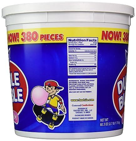 Dubble Bubble Cubo, Sabor original. 380 unidades, 60.3 Onzas ...