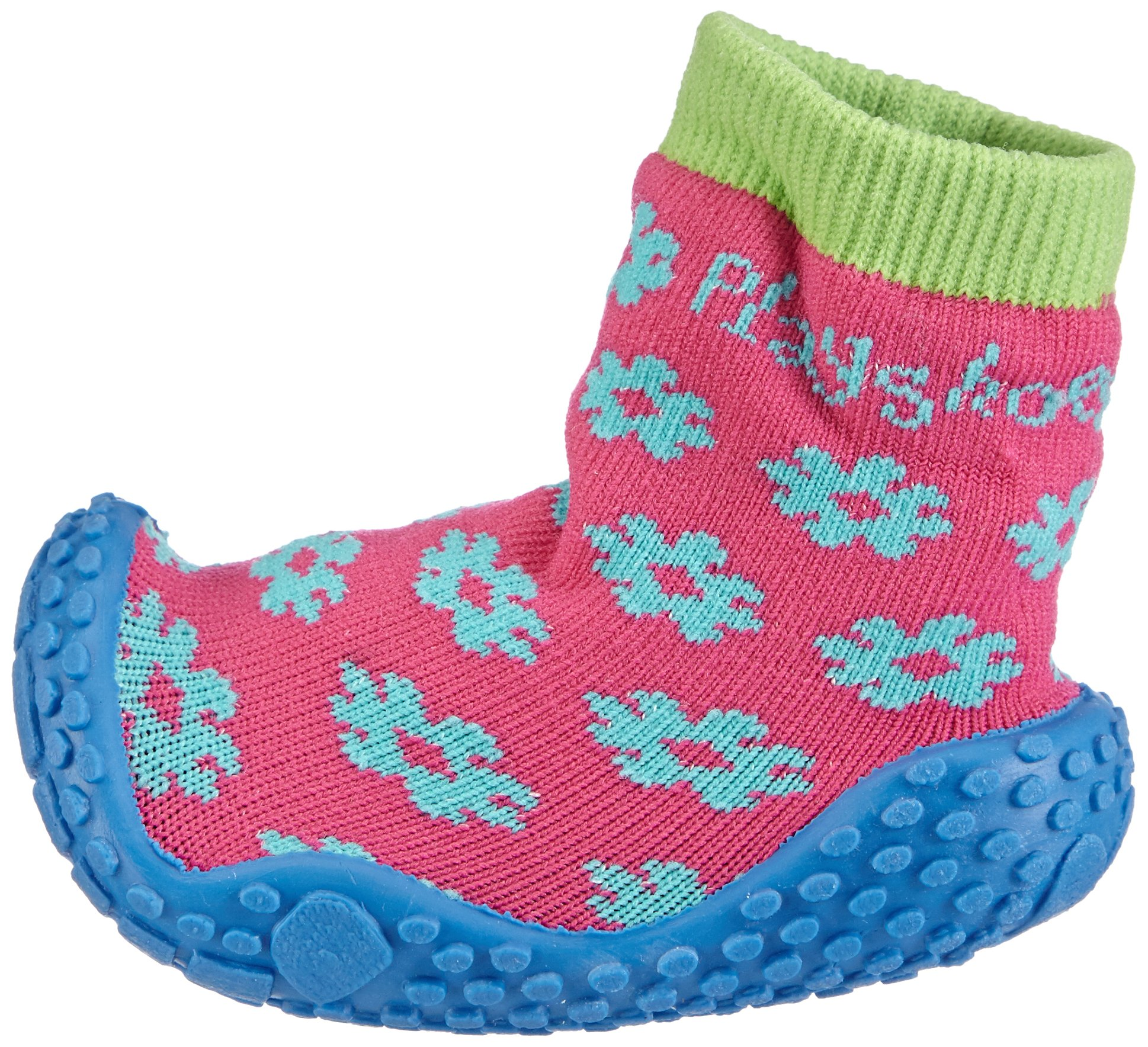 Playshoes Girls Flower Collection Rubber Aqua Swim/Beach Shoes (4.5 M US Toddler) by Playshoes (Image #5)