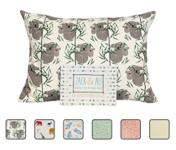 Made in USA Soft 100/% Organic Cotton Zack /& Ali Toddler Pillow 13 x 18