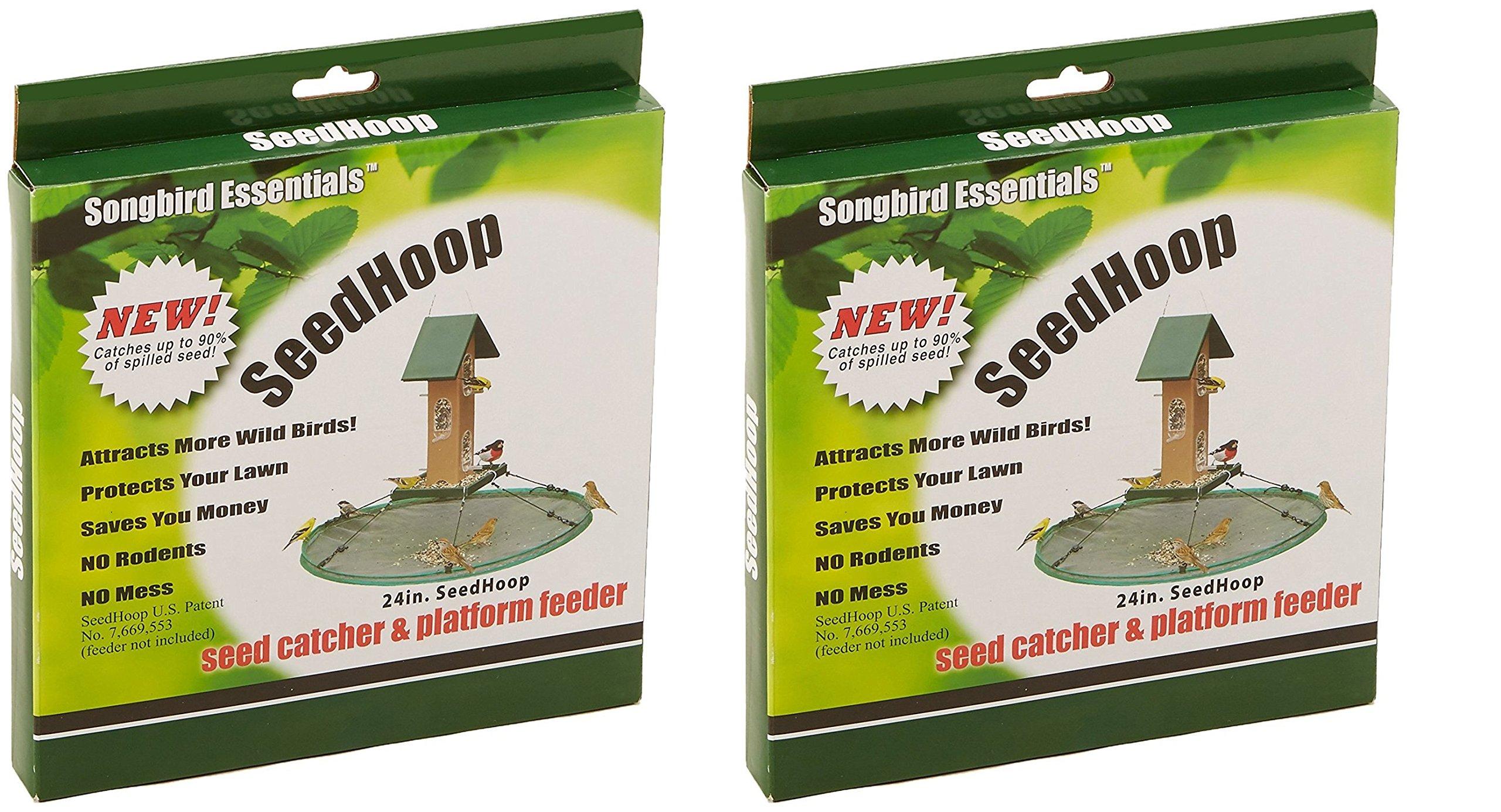 Songbird Essentials SEIA30024 Seed Hoop Seed Catcher & Platform Feeder (Pack of 2)