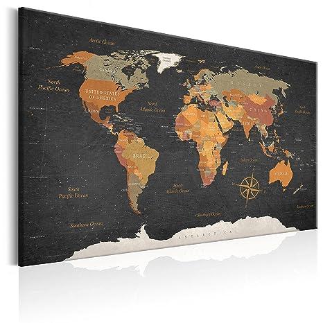 Weltkarte PINNWAND Kork Bilder LEINWANDBILDER Wohnzimmer Wandbilder XXL 6 motive